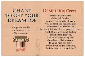 WICCAN SPELL FOR JOB INTERVIEW